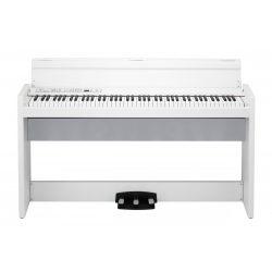 KORG LP-380U WH, slim design digitális zongora, 88 billentyű, RH3 mechanika, fehér, billentyűfedéllel, USB MIDI csatlakozóval