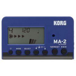 KORG MA-2-BLBK,digitális metronóm, 8 ritmus variáció, LCD pendulum kijelző, kék-fekete színben