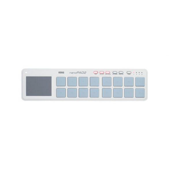 KORG NANOPAD2-WH, Kompakt, ütőpados, USB MIDI-vezérlő, fehér