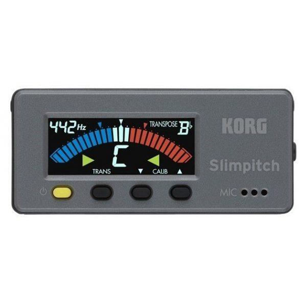 KORG SLIMPITCH, Mágnesesen rögzíthető színes kijelzős kromatikus hangoló tartozék CM200 kontaktmikrofonnal