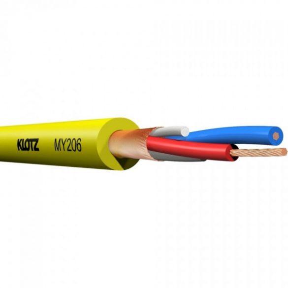 Klotz MY206 mikrofon kábel sárga