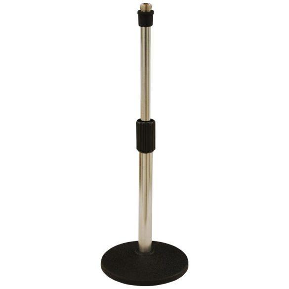 LK-935W Egyenes mikrofonállvány, körtalpas, alacsony
