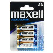 MAXELL LR6 tartós alkáli AA (ceruza) elem (4db-os)