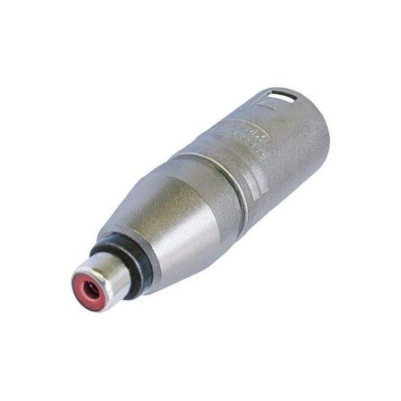 Neutrik NA2MPMF átalakító 3 pólusú XLR papa dugó-RCA aljzat