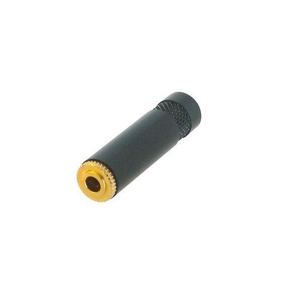 Neutrik REAN NYS240BG 3,5-es sztereó, lengő aljzat fekete fémházzal, aranyozott érintkezővel