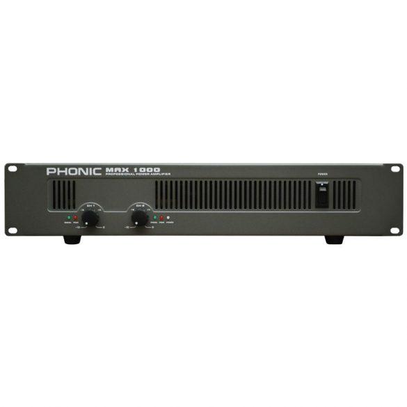 Phonic MAX1000 Végerősítő, 2x300W/4Ohm