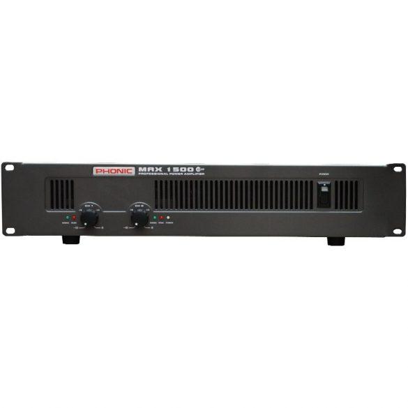 Phonic MAX1500 Plus Végerősítő, 2x450W/4Ohm