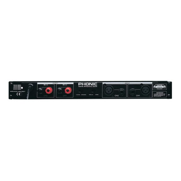 Phonic MAX500 Végerősítő, 2x120W/4Ohm