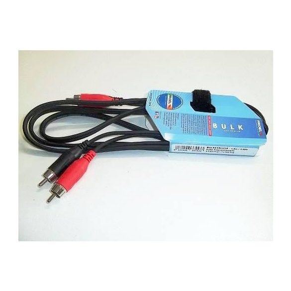 PROEL BULK545LU3 Sztereó 2xRCA+2xRCA kábel, 3 m fekete, öntött
