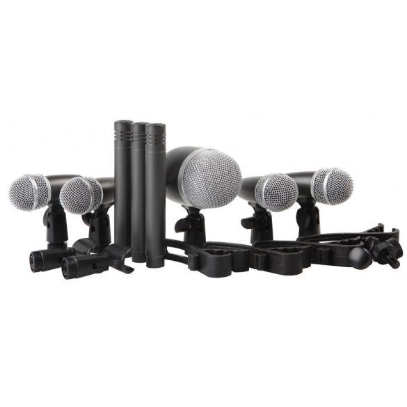 PROEL DMH8XL, Dobmikrofon szett, nyolc darab mikrofon tartóval