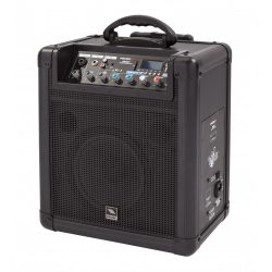 Proel FREE8LT, akkumulátoros, aktív kétutas hangfal, 8″, 20WRMS, 2Mic/Line és 1 sztereó be-,1 kimenet, média player LCD-vel