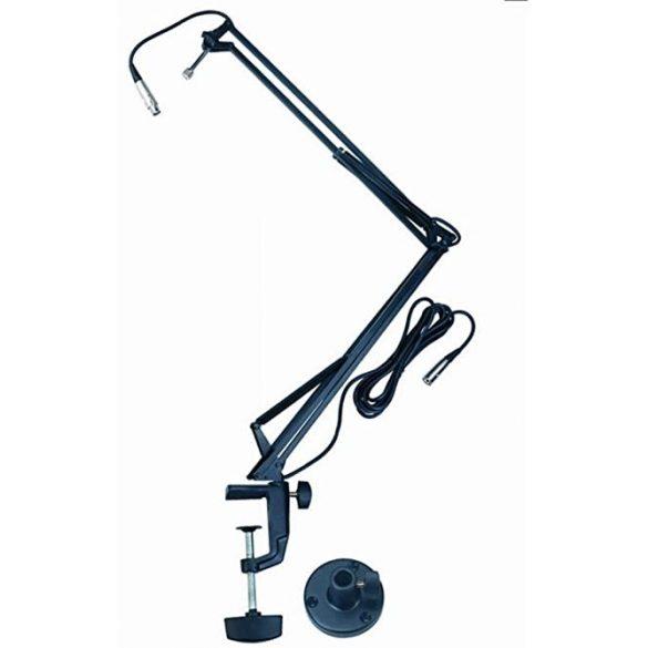 Quik Lok A25BK, asztalra szerelhetó rúgós karos mikrofonállvány