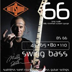 Rotosound BS66 basszusgitár húrkészlet, rozsdamentes acél, 43 65 80 110 — BILLY SHEEHAN SET
