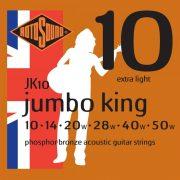 Rotosound JK10 akusztikus gitár húrkészlet, foszfor-bronz, 10 14 20 28 40 50