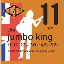 Rotosound JK11 akusztikus gitár húrkészlet, foszfor-bronz, 11 15 22 30 42 52