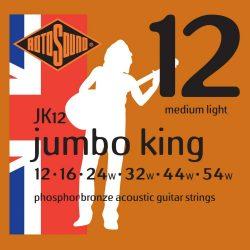 Rotosound JK12 akusztikus gitár húrkészlet, foszfor-bronz, 12 16 24 32 44 54