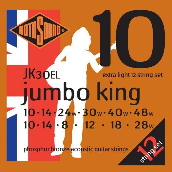 Rotosound JK30EL Akusztikus gitár húrkészlet, foszfor-bronz,12 húros szett, 10 14 8 12 18 28, 10 14 24 30 40 48