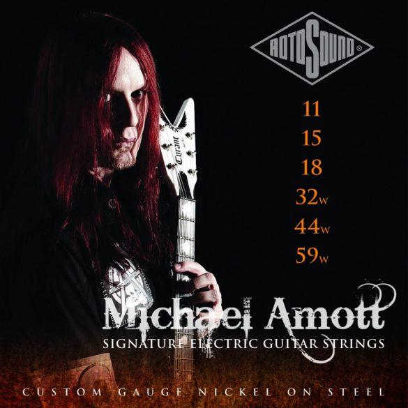 Rotosound Nikkel elektromos gitár húrkészlet, Michael Amott signature, 11 15 18 32w 44w 59w