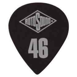 MST46 Rotosound gitárpengető , kicsi cápafog alakú, 0,46, fekete