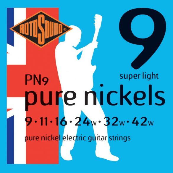 Rotosound PN9 Nikkel elektromos gitár húrkészlet, 9 11 16 24 32 42