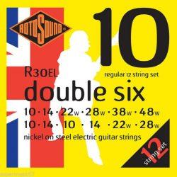 Rotosound R30EL Nikkel 12 húros elektromos gitár húrkészlet, 10 double six
