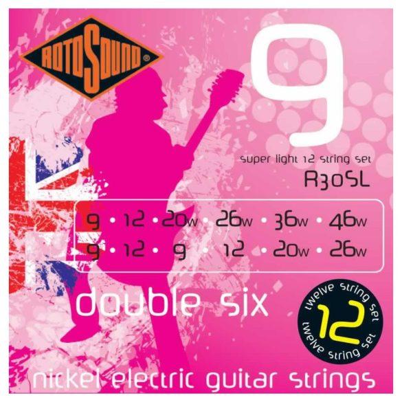 Rotosound R30SL Nikkel 12 húros elektromos gitár húrkészlet, 9 double six