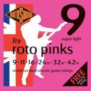 Rotosound R9 nikkel elektromos gitár húrkészlet, extra könnyű, 9 11 16 24 32 42