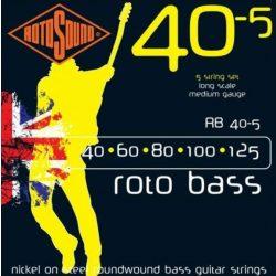 Rotosound RB40-5 basszusgitár húrkészlet, nikkel, 5 húr, 40 60 80 100 125