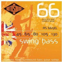 Rotosound RS665EL Basszusgitár húrkészlet, rozsdamentes acél, extra hosszú, 45 65 80 105 130