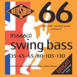 Rotosound RS 666 LD basszusgitár húrkészlet, rozsdamentes acél, 6 húr, 35 45 65 80 105 130