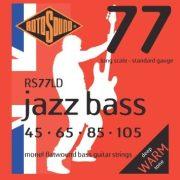 Rotosound RS77LD basszusgitár húrkészlet, Monel, köszörült, 45 65 85 105