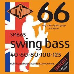 Rotosound SM665 basszusgitár húrkészlet, rozsdamentes acél, 5 húr, 40 60 80 100 125