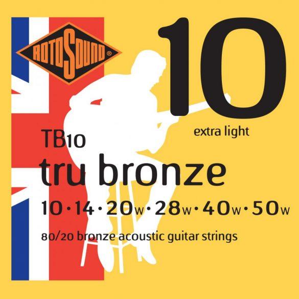 Rotosound TB10 Akusztikus gitár húrkészlet, 80/20 bronz, 10 14 20 28 40 50
