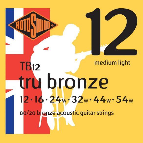 Rotosound TB10 Akusztikus gitár húrkészlet, 80/20 bronz, 12 16 24 32 44 54