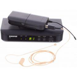 Shure BLX14E/MX53 Presenter szett: zsebadó, vevő, MX153T/O-TQG fülmikrofon