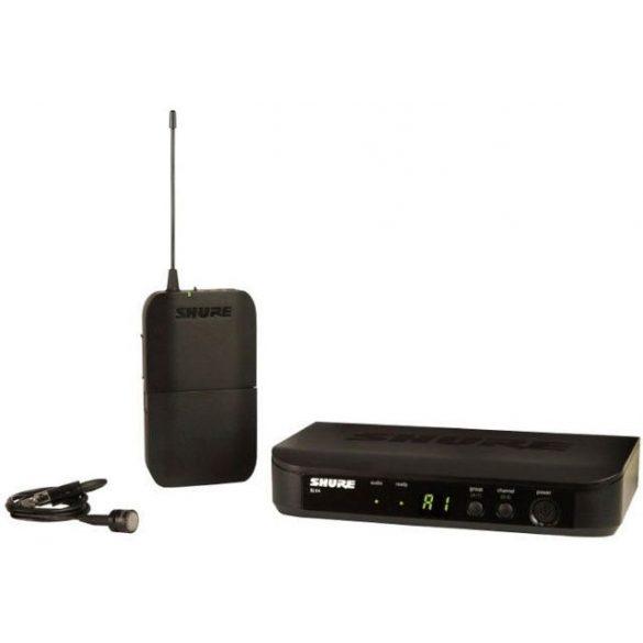 Shure BLX14E/W85 vezetéknélküli presenter szett BLX4 vevő BLX1 zsebadó WL185 csiptetős mikrofon
