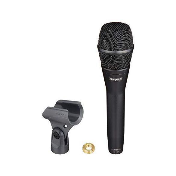 Shure KSM9 Dualdyne™ Kondenzátor szub/hiperkardioid énekmikrofon - Fekete