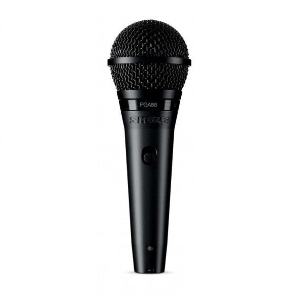 Shure PGA58-QTR Dinamikus vokálmikrofon kapcsolóval, XLR-Jack kábel