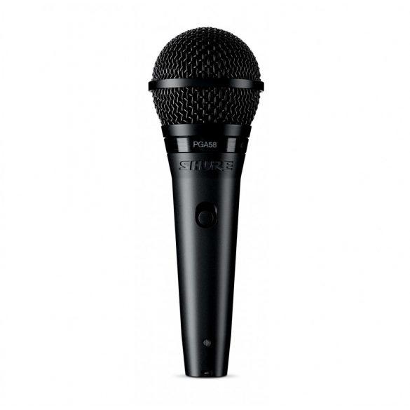 Shure PGA58-XLR Dinamikus vokálmikrofon kapcsolóval, XLR-XLR kábel