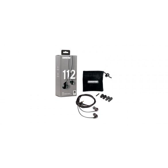 Shure SE112-GR-EFS Fülhallgató fix kábellel, 3.5mm jack, szürke színben