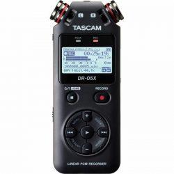 Tascam DR-05X, Hordozható, 2 csatornás sztereó rögzítő, USB-interface, memóriakártya nélkül!