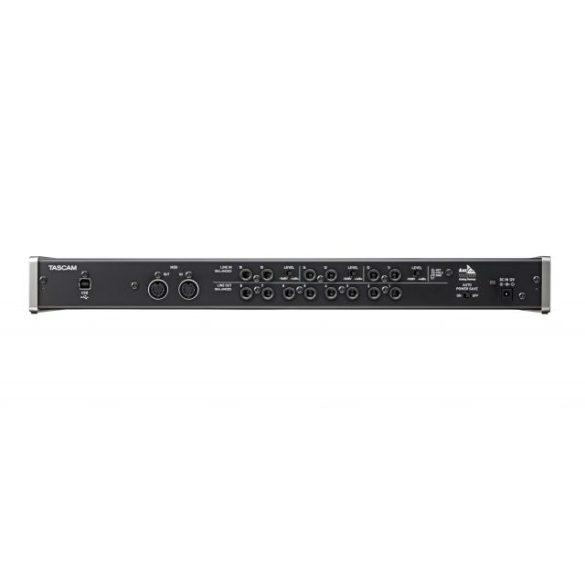 TASCAM US-16x08 USB hangkártya Ultra-HDDA mikrofon előfokok, 16 be- és 8 kimenet