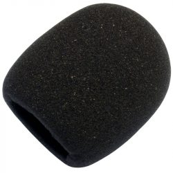 Mikrofonszivacs vokálmikrofonra fekete színben