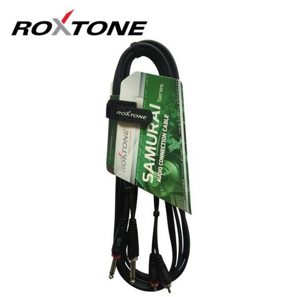 Roxtone RACC150L1 2×6,3 Jack – 2xRCA kábel, 1m
