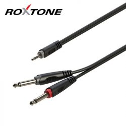 Roxtone RAYC130L1 3,5 Sztereó Jack – 2×6,3 Monó Jack kábel, 1m