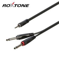 Roxtone RAYC130L3 3,5 Sztereó Jack – 2×6,3 Monó Jack kábel, 3m