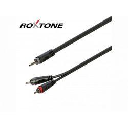 Roxtone RAYC150L3 3,5 Sztereó Jack – 2×RCA kábel, 3m